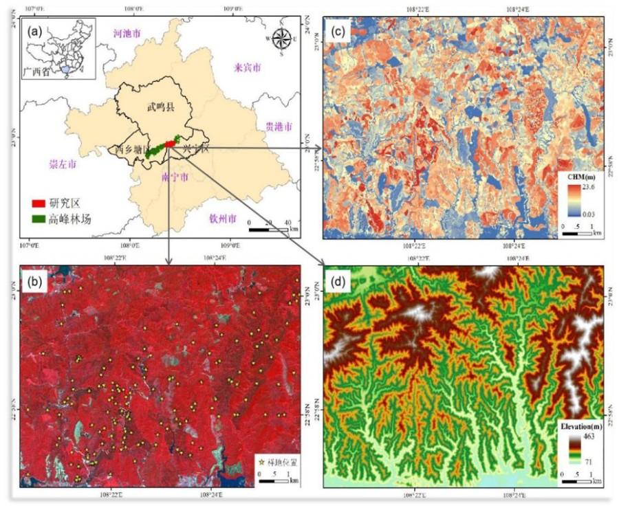 D959(二等奖)基于LiDAR和资源三号数据的广西高峰林场森林资源三维动态监测